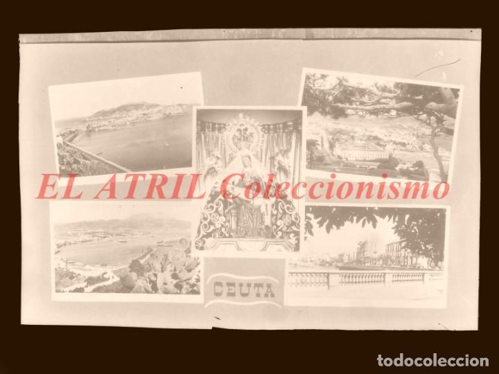 1 CLICHE ORIGINAL - CEUTA - NEGATIVO EN CELULOIDE - EDICIONES ARRIBAS (Postales - España - Ceuta Antigua (hasta 1939))