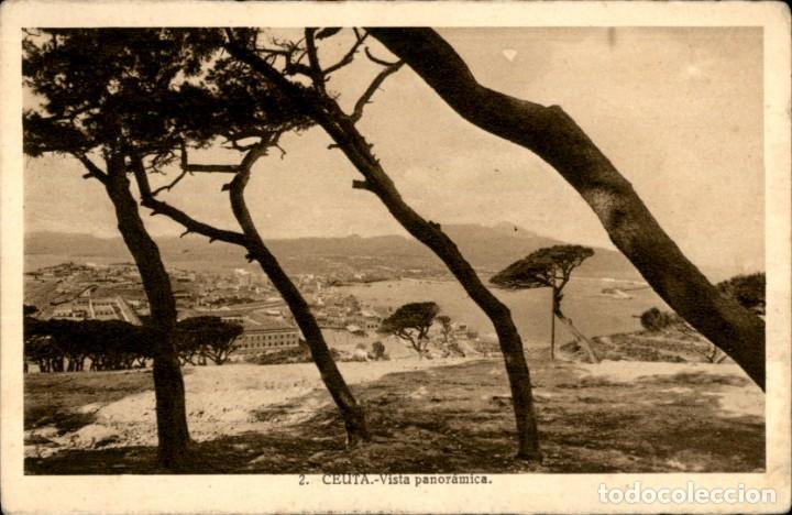 CEUTA. 2 – VISTA PANORAMICA – L. ROISIN - CIRCULADA (Postales - España - Ceuta Antigua (hasta 1939))