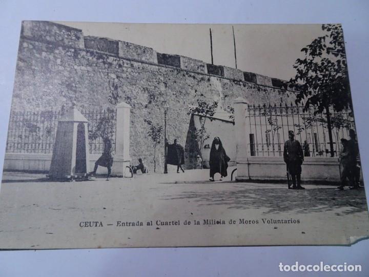 ANTIGUA POSTAL DE CEUTA, ENTRADA CUARTEL MILITAR, VER FOTOS (Postales - España - Ceuta Antigua (hasta 1939))