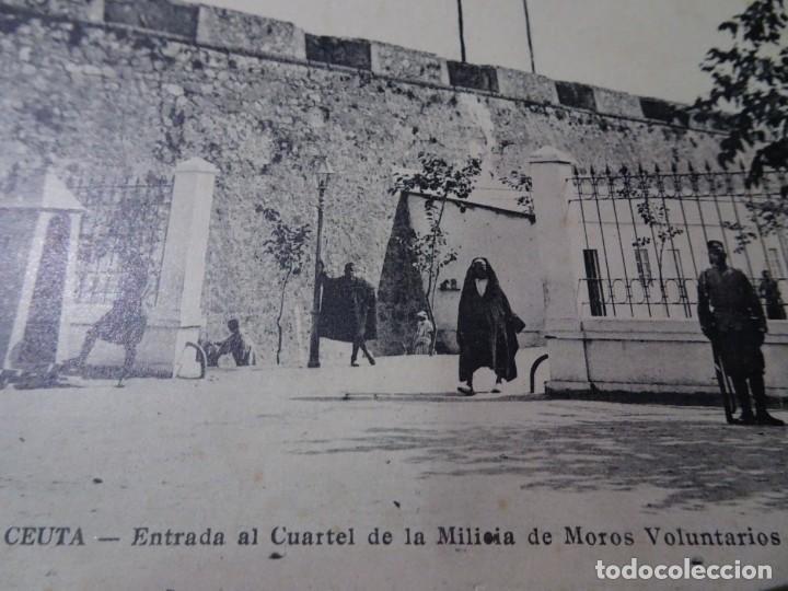 Postales: ANTIGUA POSTAL DE CEUTA, ENTRADA CUARTEL MILITAR, VER FOTOS - Foto 2 - 146471518