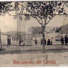 Postales: POSTAL RECUERDO DE CEUTA CON 12 MINI VISTAS: CALLE SOBERANIA NACIONAL, EL RESTAURAN DE MORA SERRALLO. Lote 146744270