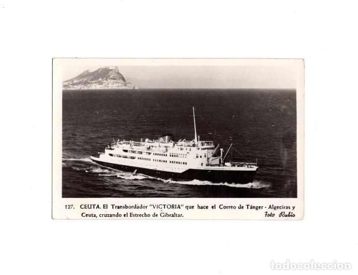 CEUTA.- EL TRANSBORDADOR VIRGEN DE ÁFRICA. CRUZANDO ESTRECHO (Postales - España - Ceuta Antigua (hasta 1939))