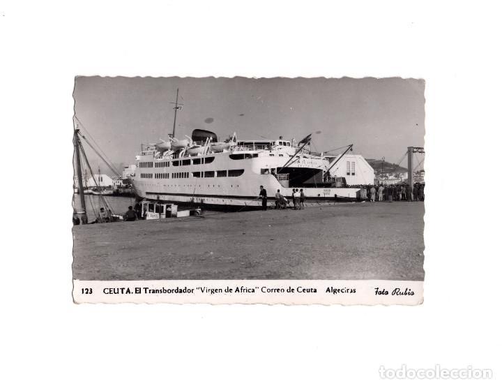 CEUTA.- EL TRANSBORDADOR VIRGEN DE ÁFRICA. ALGECIRAS (Postales - España - Ceuta Antigua (hasta 1939))