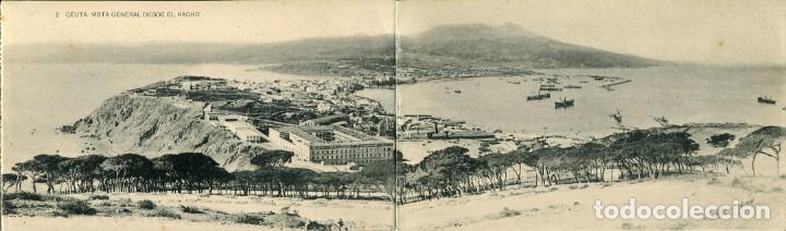 CEUTA -VISTA GENERAL DESDE EL HACHO-DIPTICO-HAUSER (Postales - España - Ceuta Antigua (hasta 1939))