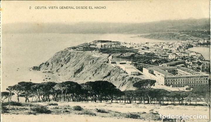 Postales: CEUTA -VISTA GENERAL DESDE EL HACHO-DIPTICO-HAUSER - Foto 2 - 154321294