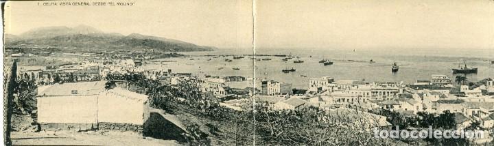 CEUTA -VISTA GENERAL DESDE EL MOLINO -TRIPTICO-HAUSER Nº 1 (Postales - España - Ceuta Antigua (hasta 1939))