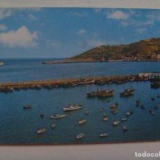 Postales: POSTAL DE CEUTA : ENTRADA DEL TRANSBORDADOR Y MONTE HACHO. AÑOS 60. Lote 154390654