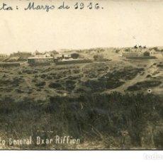 Postales: CEUTA-CAMPAMENTO GENERAL DXAR RIFFIEN- AÑO 1916-FOTOGRÁFICA-MUY RARA. Lote 154465786