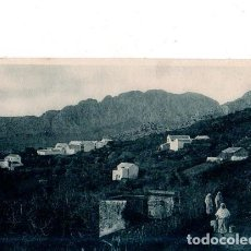 Postales: TARJETA POSTAL DE CEUTA. POBLADO DE LA CABILA DEL BIUT, AL FONDO EL YEBEL- MUSSA.. Lote 155063910