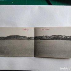 Postales: POSTAL DOBLE. VISTA GENERAL. CEUTA. FOTOTIPIA, CASTAÑEIRA Y ÁLVAREZ. MADRID. Lote 163359390