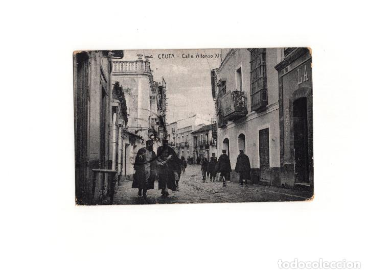 Postales: CEUTA.- CALLE ALFONSO XII. - Foto 1 - 165041402