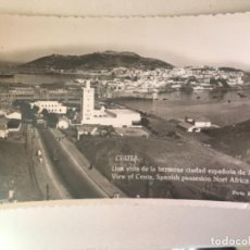 Postales: ANTIGUA POSTAL FOTOGRAFICA CEUTA VISTA AEREA COLONIA ESPAÑOLA AFRICA SELLO FOT FRANCISCO RUBIO . Lote 166625342