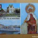 Postales: POSTAL - 35 - CEUTA - PLAZA GRAL. GALERA/VIRGEN DE AFRICA/TRANSBORDADOR VICTORIA - ED. FISA . Lote 168489804