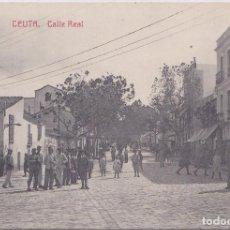 Postales: CALLE REAL (CEUTA) - FOTOTIPIA CASTAÑEIRA Y ALVAREZ - MADRID. Lote 170322460