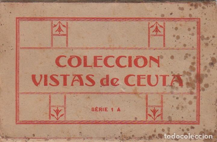 Postales: Antigua cartera Colección Vistas de Ceuta, Serie 1 A. Contiene 5 postales. Escritas en 1940. ff - Foto 2 - 173733003