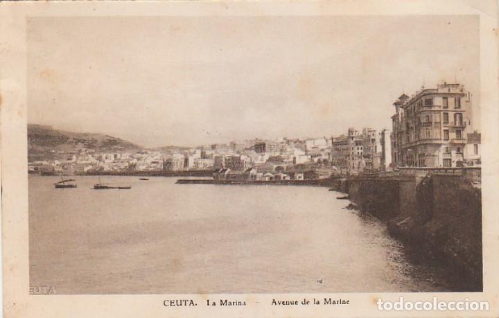 Postales: Antigua cartera Colección Vistas de Ceuta, Serie 1 A. Contiene 5 postales. Escritas en 1940. ff - Foto 3 - 173733003