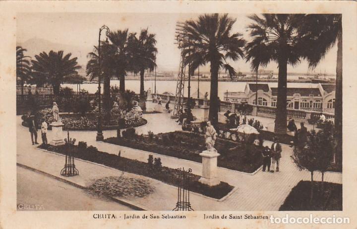 Postales: Antigua cartera Colección Vistas de Ceuta, Serie 1 A. Contiene 5 postales. Escritas en 1940. ff - Foto 6 - 173733003
