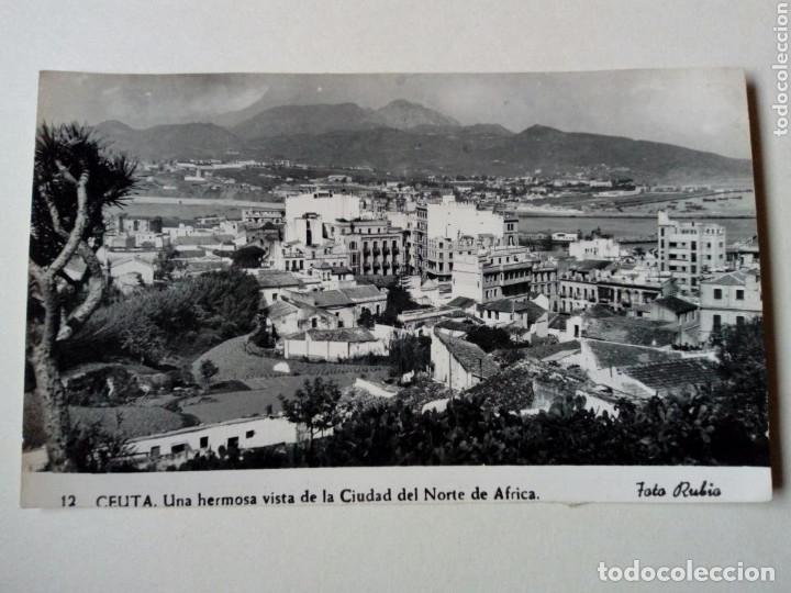 POSTAL - 12. CEUTA. UNA HERMOSA VISTA DE LA CIUDAD DEL NORTE DE AFRICA - FOTO RUBIO 1958 - ESCRITA (Postales - España - Ceuta Moderna (desde 1940))