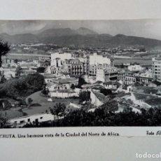 Postales: POSTAL - 12. CEUTA. UNA HERMOSA VISTA DE LA CIUDAD DEL NORTE DE AFRICA - FOTO RUBIO 1958 - ESCRITA . Lote 175430117