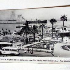 Postales: POSTAL - 6. CEUTA. PASEO DE SAN SEBASTIÁN, BALCÓN SOBRE EL ESTRECHO - FOTO RUBIO - ESCRITA . Lote 175430329