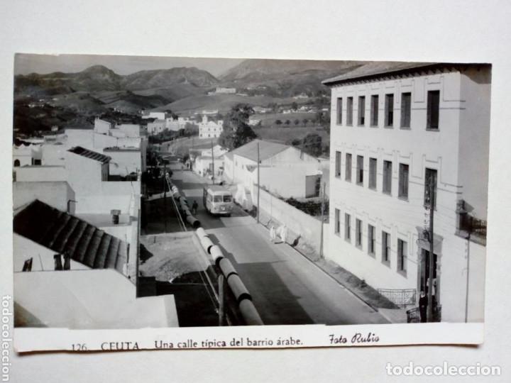 POSTAL - 126. CEUTA. UNA CALLE TÍPICA DEL BARRIO ARABE - FOTO RUBIO - ESCRITA (Postales - España - Ceuta Moderna (desde 1940))