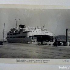 Postales: POSTAL - 130 TRANSBORDADOR VICTORIA CORREO DE MARRUECOS - L.ROISIN FOTO - ESCRITA. Lote 175431223
