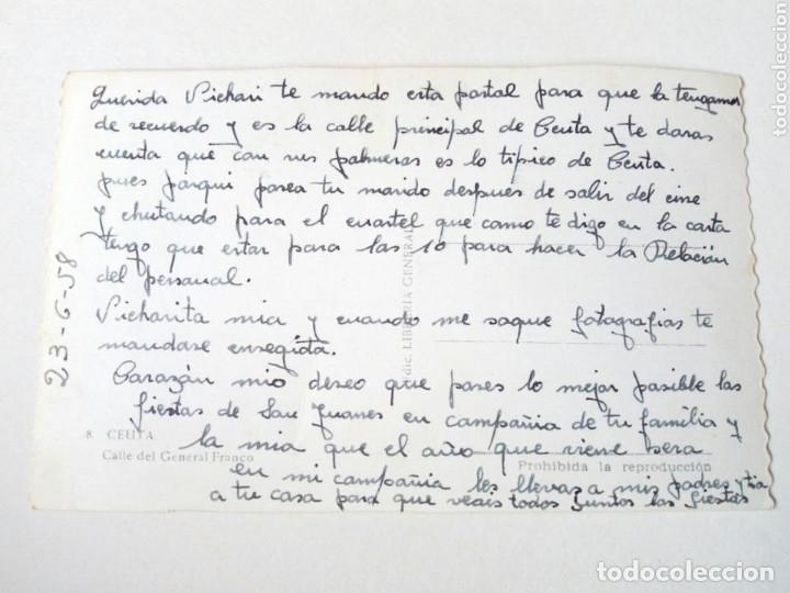Postales: Postal - 8. CEUTA Calle del General Franco. Ediciones Librería General - Escrita - Foto 2 - 175431705