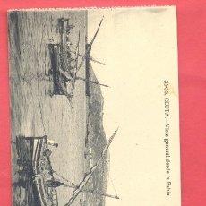 Postales: CEUTA- 35-36 VISTA GENERAL DESDE LA BAHIA- POSTAL DOBLE, SIN CIRCULAR VER FOTOS. Lote 187474170