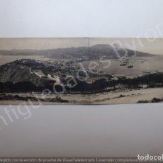 Postales: FOTOGRAFÍA ANTIGUA ORIGINAL DOBLE. PANORÁMICA. FRANCISCO RUBIO. CEUTA. Lote 178765457