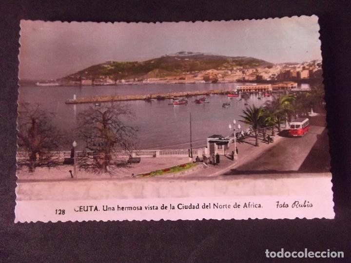 CEUTA-V2-VISTA DE LA CIUDAD DEL NORTE DE AFRICA-FOTO RUBIO-14X9CM (Postales - España - Ceuta Moderna (desde 1940))