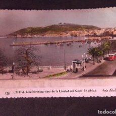 Postales: CEUTA-V2-VISTA DE LA CIUDAD DEL NORTE DE AFRICA-FOTO RUBIO-14X9CM. Lote 178988852