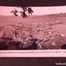 Postales: CEUTA-V2-CEUTA ENTRE LAS AGUAS DEL MEDITERRANEO Y DEL ESTRECHO DE GIBRALTAR-FOTO RUBIO-14X9CM. Lote 178988911