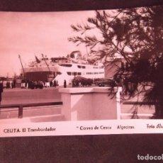 Postales: CEUTA-V2-EL TRANSBORDADOR CORREO DE CEUTA ALGECIRAS-FOTO RUBIO-14X9CM. Lote 178988946