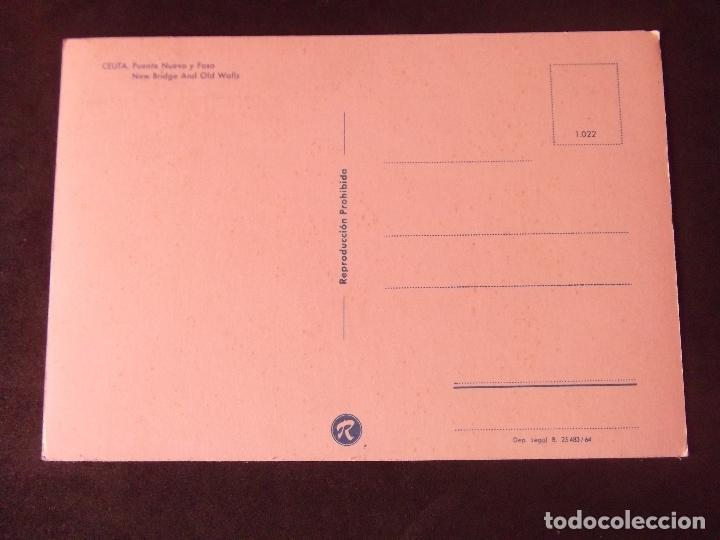 Postales: CEUTA-V2-PUENTE NUEVO Y FOSO-DL B.25.483-64 - Foto 2 - 178988981