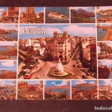 Postales: CEUTA-V2-BELLEZAS DE LA CIUDAD-ESCRITA. Lote 178989083