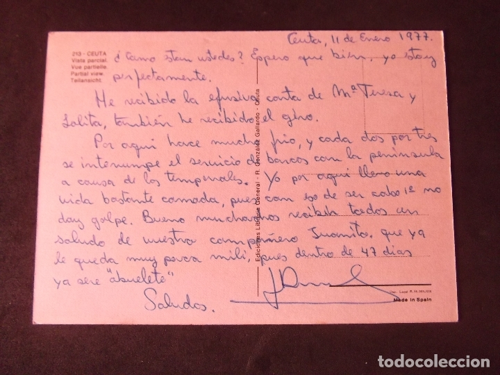 Postales: CEUTA-V2-ESCRITA-VISTA PARCIAL - Foto 2 - 178989260