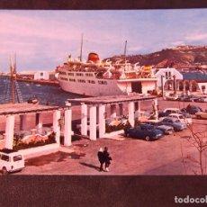 Postales: CEUTA-V2-NO ESCRITA-EL TRANSBORDADOR EN EL MUELLE DE ESPAÑA. Lote 178989460