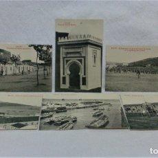 Postales: CEUTA.6 ANTIGUAS POSTALES MILITARES Y VISTAS.FOTOTIPIA CASTAÑEIRAS Y ALVAREZ.MADRID. Lote 181744172