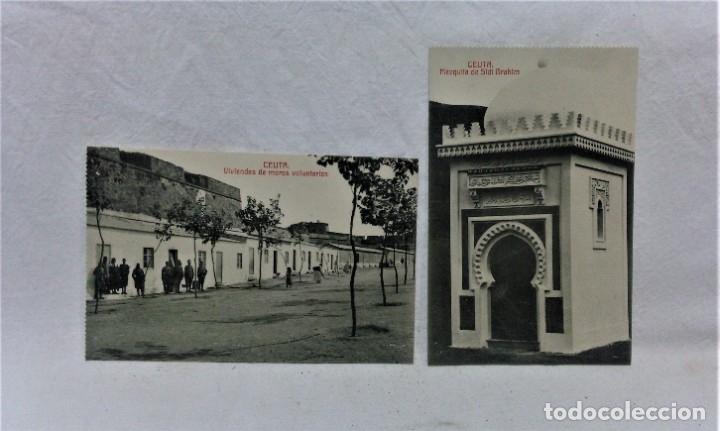 Postales: CEUTA.6 ANTIGUAS POSTALES MILITARES Y VISTAS.FOTOTIPIA CASTAÑEIRAS Y ALVAREZ.MADRID - Foto 2 - 181744172