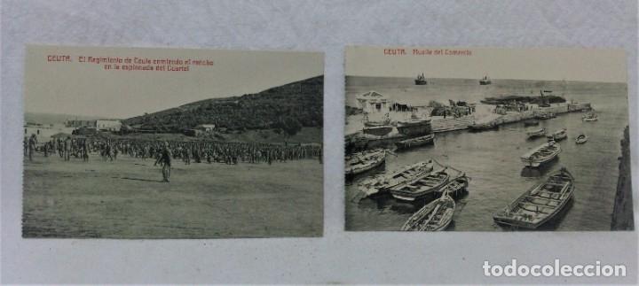 Postales: CEUTA.6 ANTIGUAS POSTALES MILITARES Y VISTAS.FOTOTIPIA CASTAÑEIRAS Y ALVAREZ.MADRID - Foto 3 - 181744172