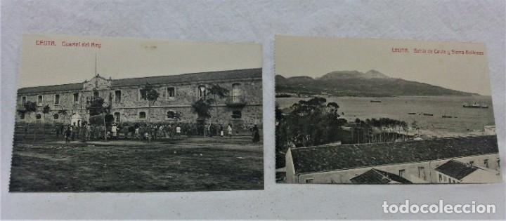 Postales: CEUTA.6 ANTIGUAS POSTALES MILITARES Y VISTAS.FOTOTIPIA CASTAÑEIRAS Y ALVAREZ.MADRID - Foto 4 - 181744172