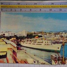 Postales: POSTAL DE CEUTA. AÑO 1964. SALIDA DEL BUQUE TRASMEDITERRANEA CIUDAD DE TARIFA. 3102. Lote 182230726