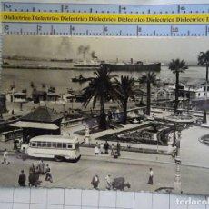 Postales: POSTAL DE CEUTA. AÑO 1953. LOS JARDINES DE SAN SEBASTIAN. AUTOBÚS. RUBIO. 3107. Lote 182230956