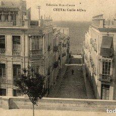 Postales: CEUTA - CALLE ALFAU. Lote 182583207