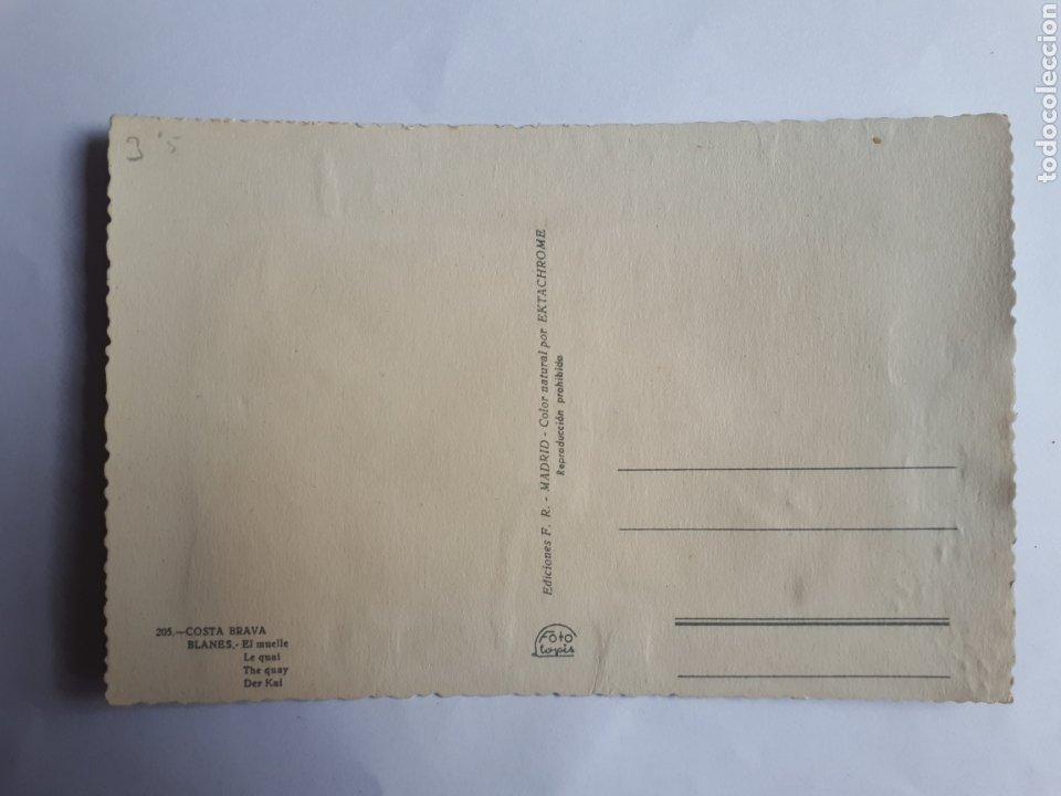 Postales: BLANES. EL MUELLE. POSTAL EN RELIEVE AÑOS 60 - Foto 2 - 253873885