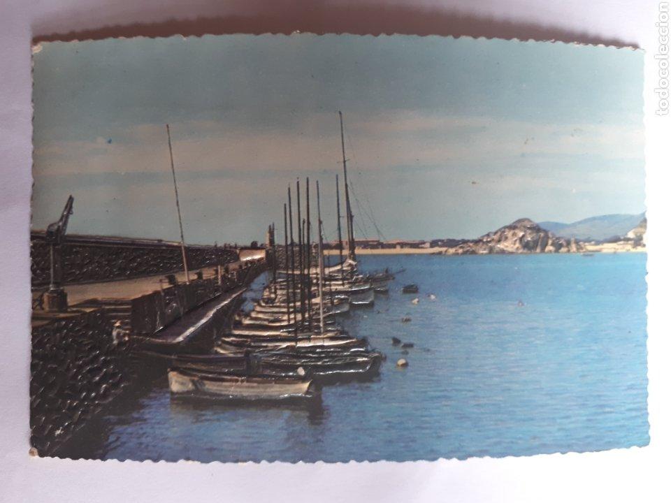 BLANES. EL MUELLE. POSTAL EN RELIEVE AÑOS 60 (Postales - España - Ceuta Moderna (desde 1940))