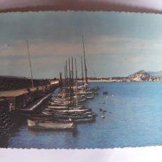Cartes Postales: BLANES. EL MUELLE. POSTAL EN RELIEVE AÑOS 60. Lote 183067973