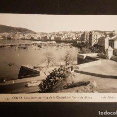 Postales: CEUTA UNA VISTA DE LA CIUDAD. Lote 183706983
