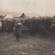 Postais: MARRUECOS .CEUTA.JULIO 1922. LECTURA PARTE DE BAJAS EN EL CAMPAMENTO. Lote 183942800