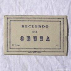 Postales: 10 POSTALES ACORDEÓN RECUERDO DE CEUTA II, 10 VISTAS, ED. ARRIBAS. Lote 184573053
